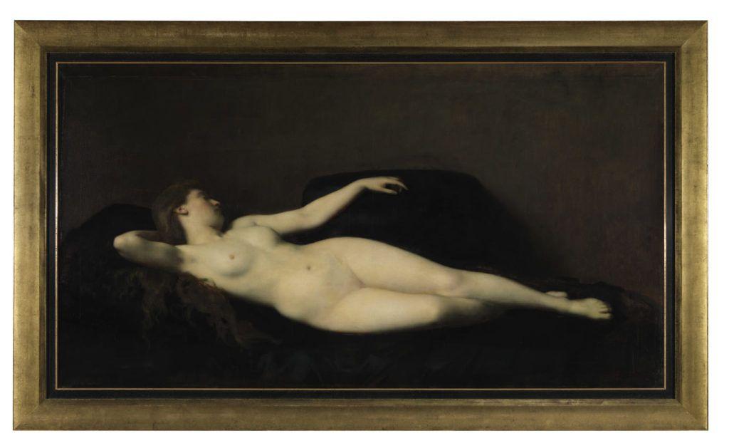 Henner - Femme divan noir ©L. Weigel