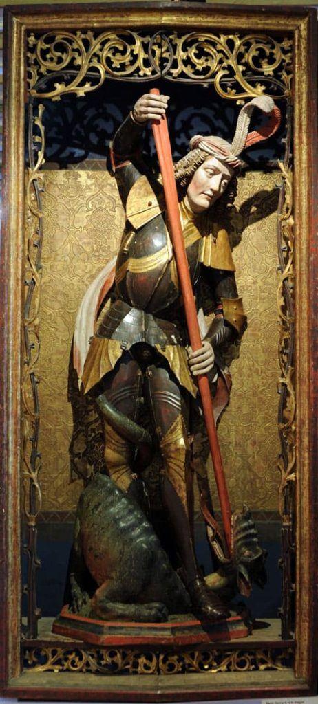 Anonyme, Saint Georges terrassant le dragon (Une oeuvre des collections du Musée des Beaux-Arts) © C.Kohler