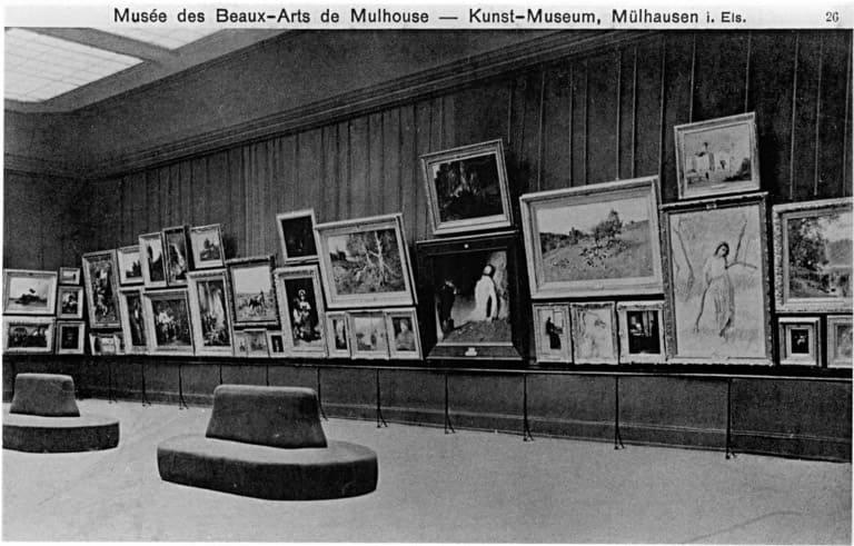 Vue ancienne de la salle des peintures modernes (salle 8) bis - Musée des Beaux arts de Mulhouse
