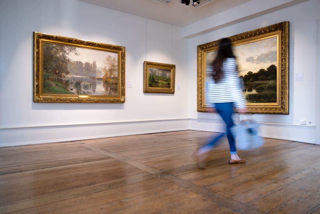 Le musée des beaux-arts - l'exposition paysages en 2019 ©Nied